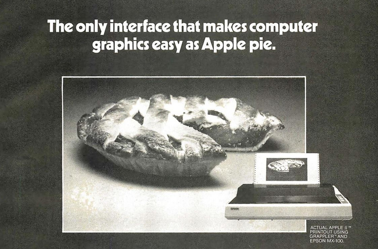 The only interface that makes computer graphics easy as Apple pie