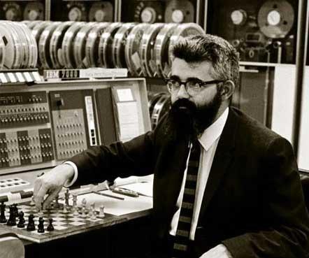 John McCarthy playing chess